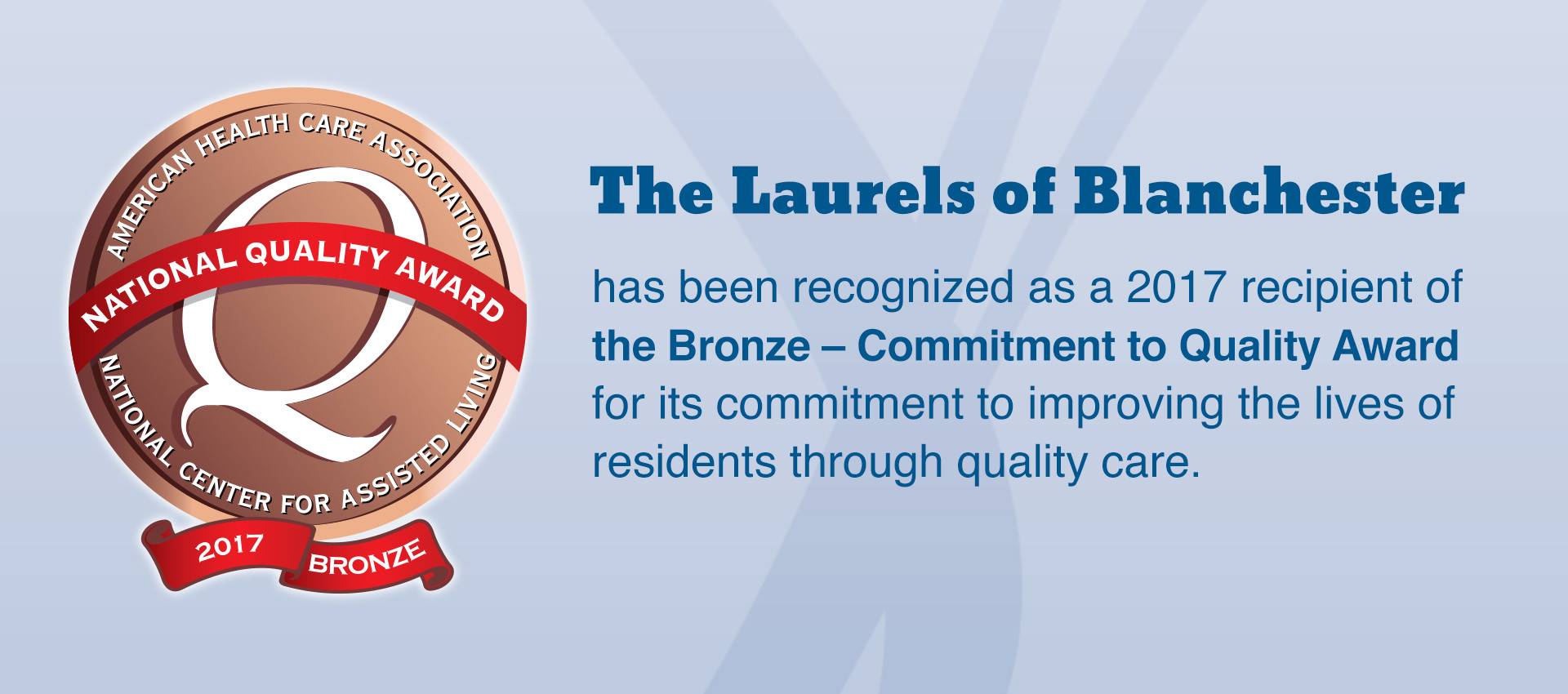 Laurels commitment to quality award banner